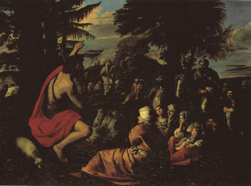 St John The Baptist Preaching In The Wilderness | Pier Francesco Mola | Oil Painting