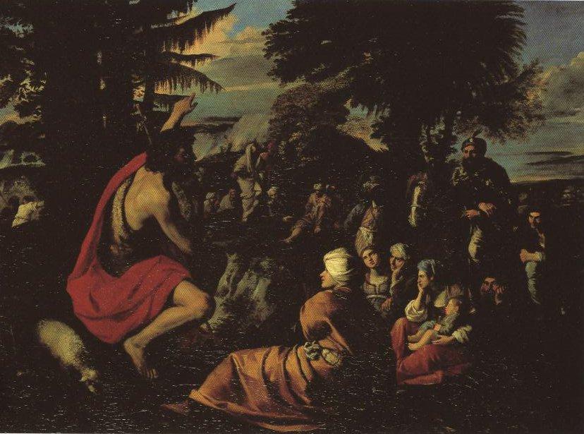 St John The Baptist Preaching In The Wilderness | Pier Francesco Mola | Oil Painting
