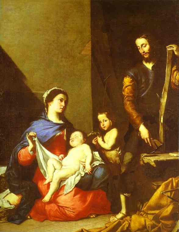 The Holy Family 1639 | Jusepe De Ribera | Oil Painting