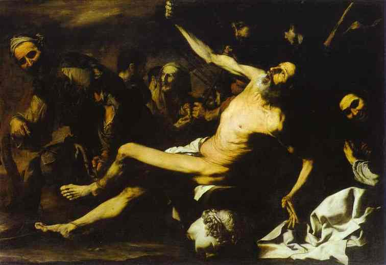 The Martyrdom Of St Bartholomew 1628-30 | Jusepe De Ribera | Oil Painting