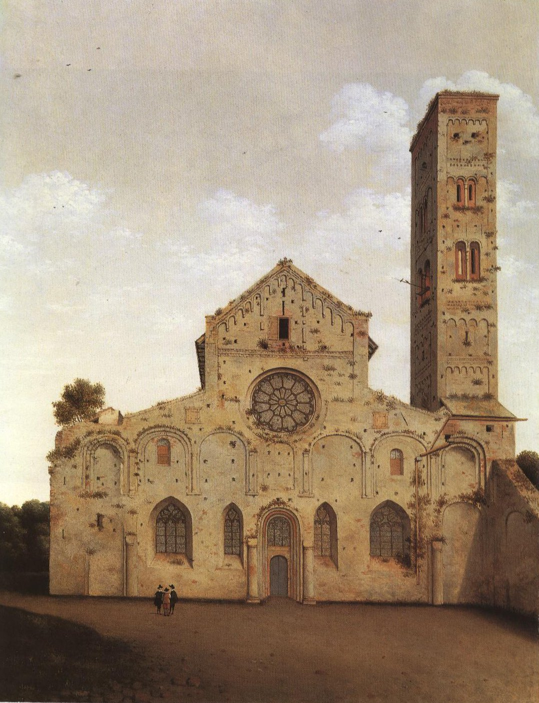 The West Front Of The Mariakerk Utercht | Pieter Saenredam | Oil Painting