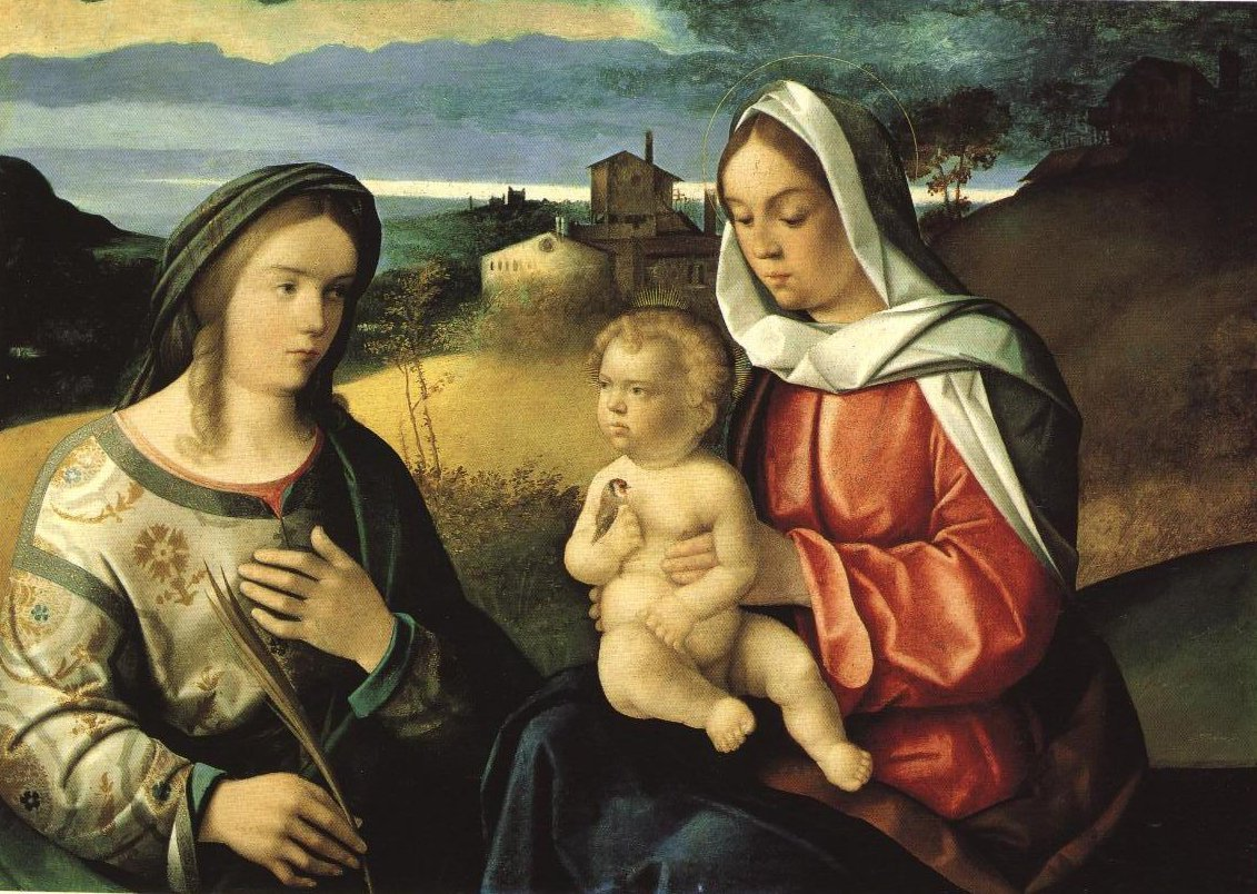 Madonna And Child With St Agnes In A Landscape | Pietro Degli Ingannati | Oil Painting