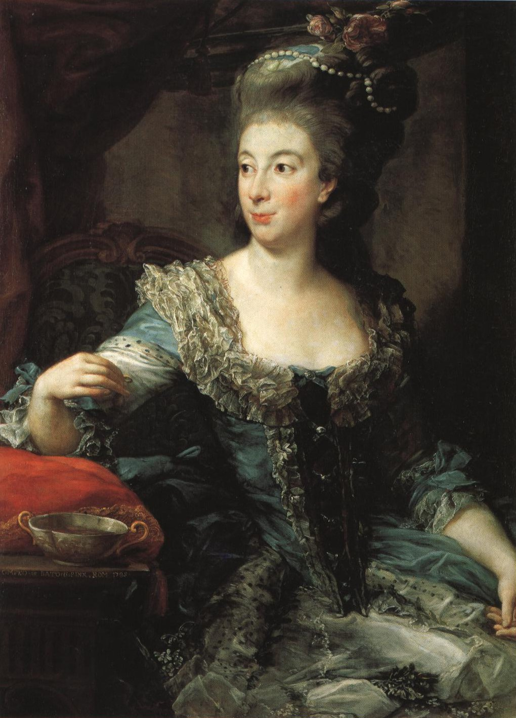 Portrait Of The Contessa Di San Martino | Pompeo Girolamo Batoni | Oil Painting