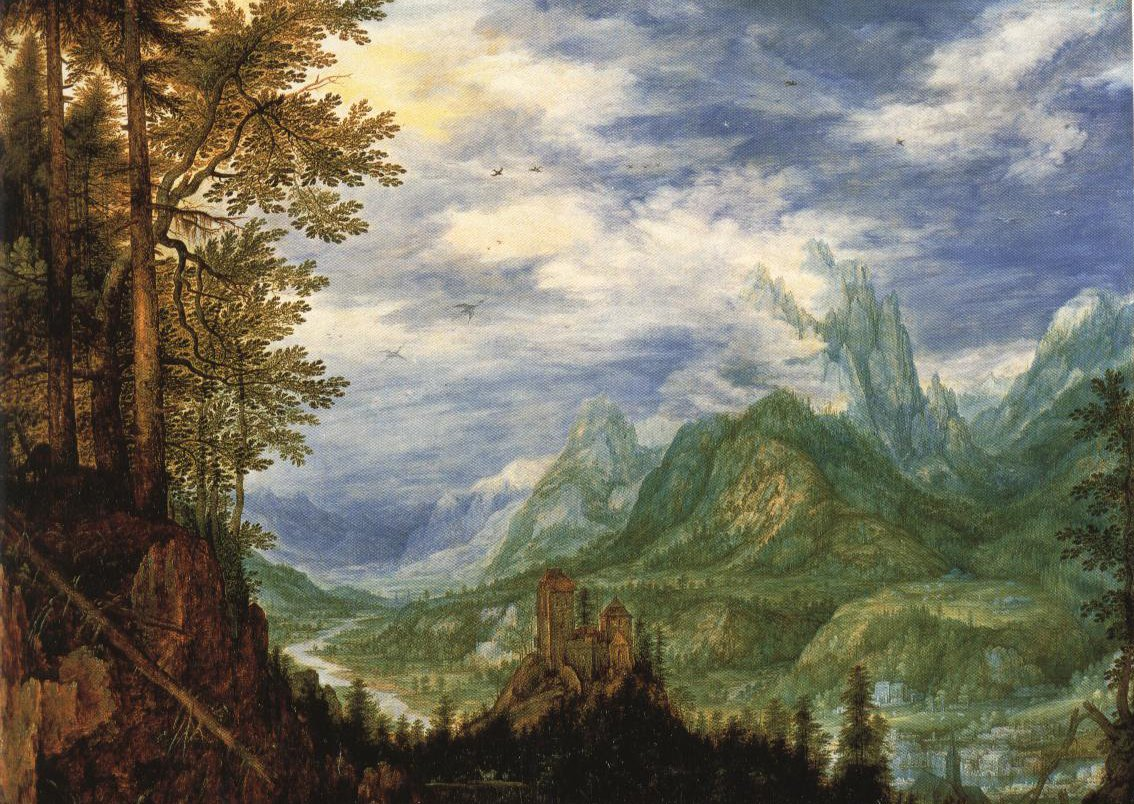 Mountain Landscape With A Castle | Roelandt Savery | Oil Painting