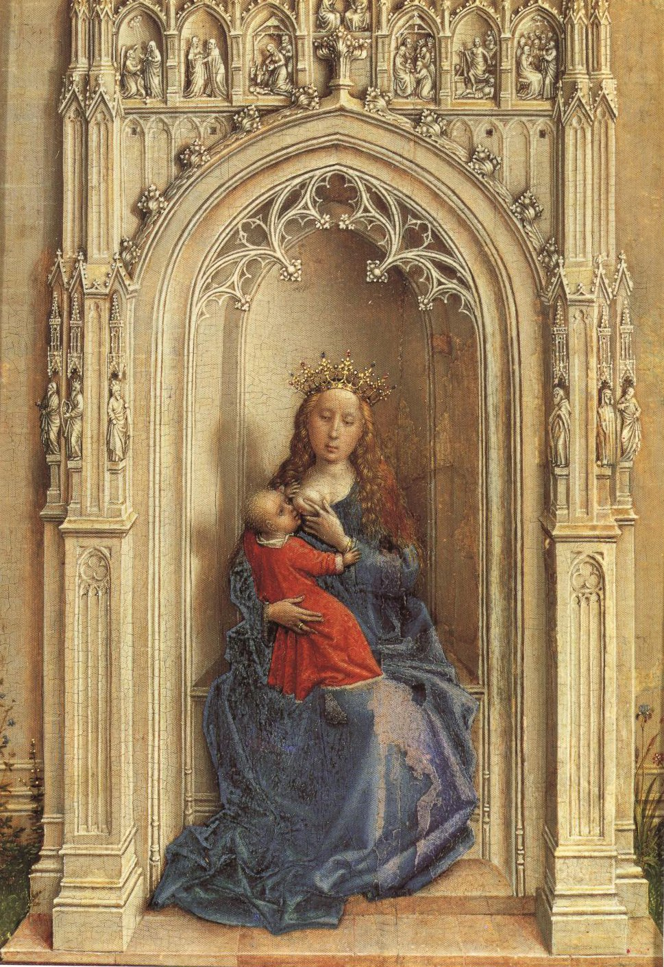 Madonna Enthroned | Rogier Van Der Weyden | Oil Painting