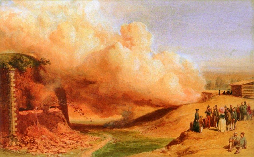Genietruppen Beim Sprengmanover 1847 | Karl Girardet | Oil Painting