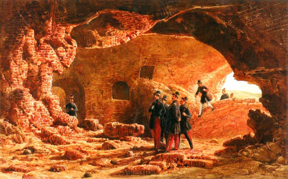 Genietruppen Beim Sprengmanover 1847 Pic2 | Karl Girardet | Oil Painting