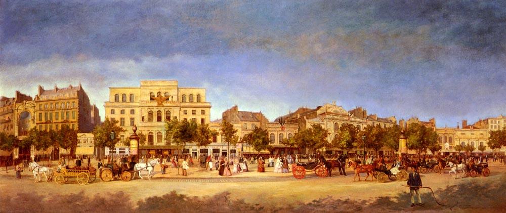 Boulevard du Temple en 1862 | Karl Maria Pertgen | Oil Painting