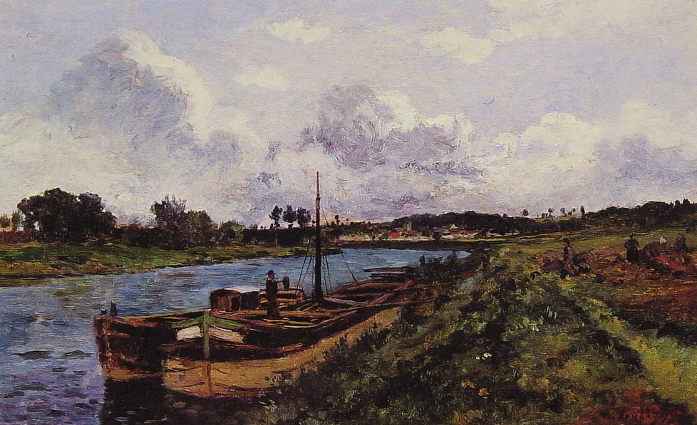 View of the River Oise Auvers Sur Oise | Karl Pierre Daubigny | Oil Painting