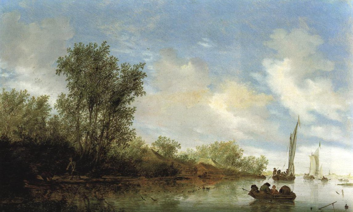 River Scene With Fishermen | Salomon Jacobsz Van Ruysdael | Oil Painting