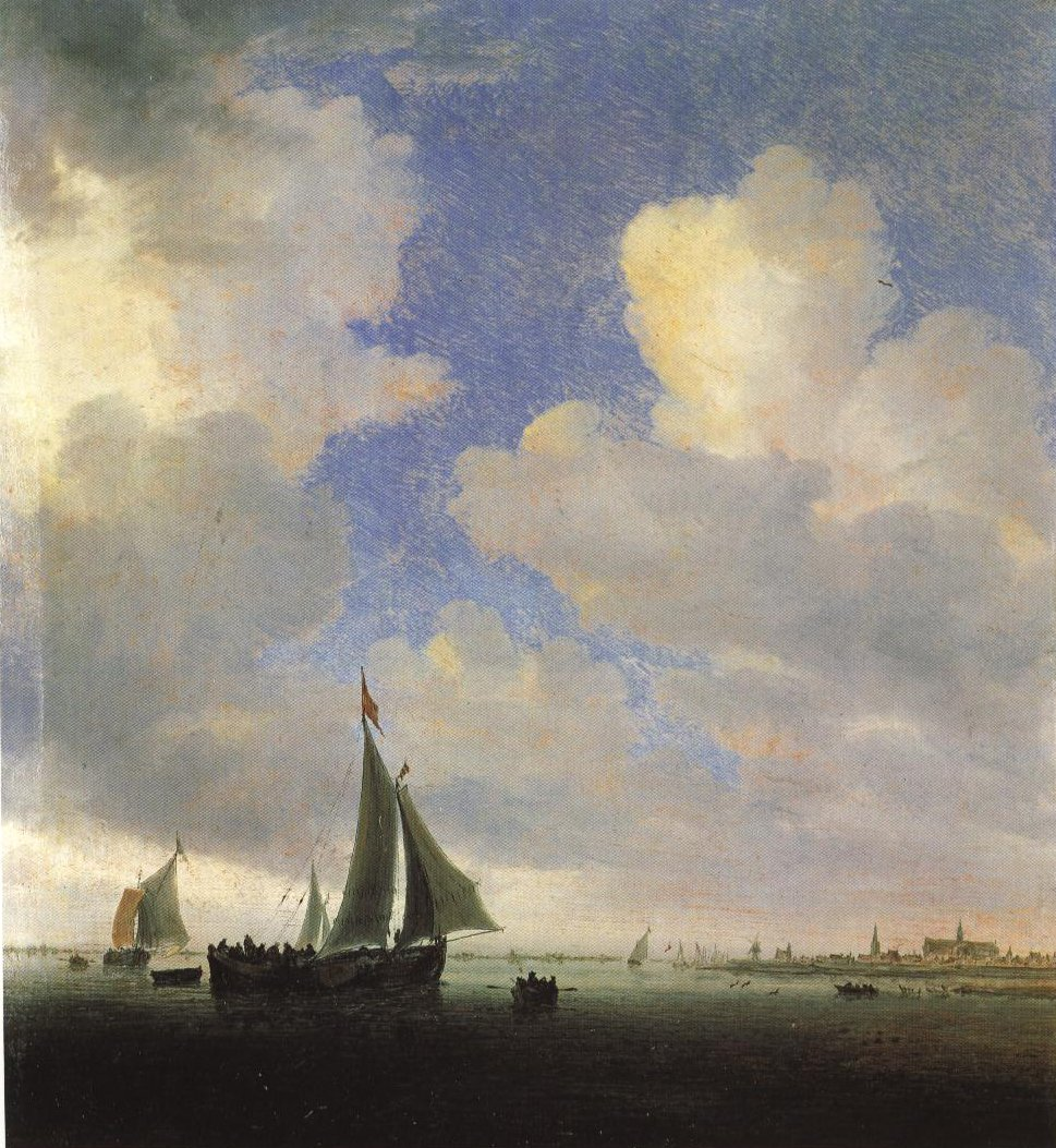 View Of Alkmaar From The Sea | Salomon Jacobsz Van Ruysdael | Oil Painting