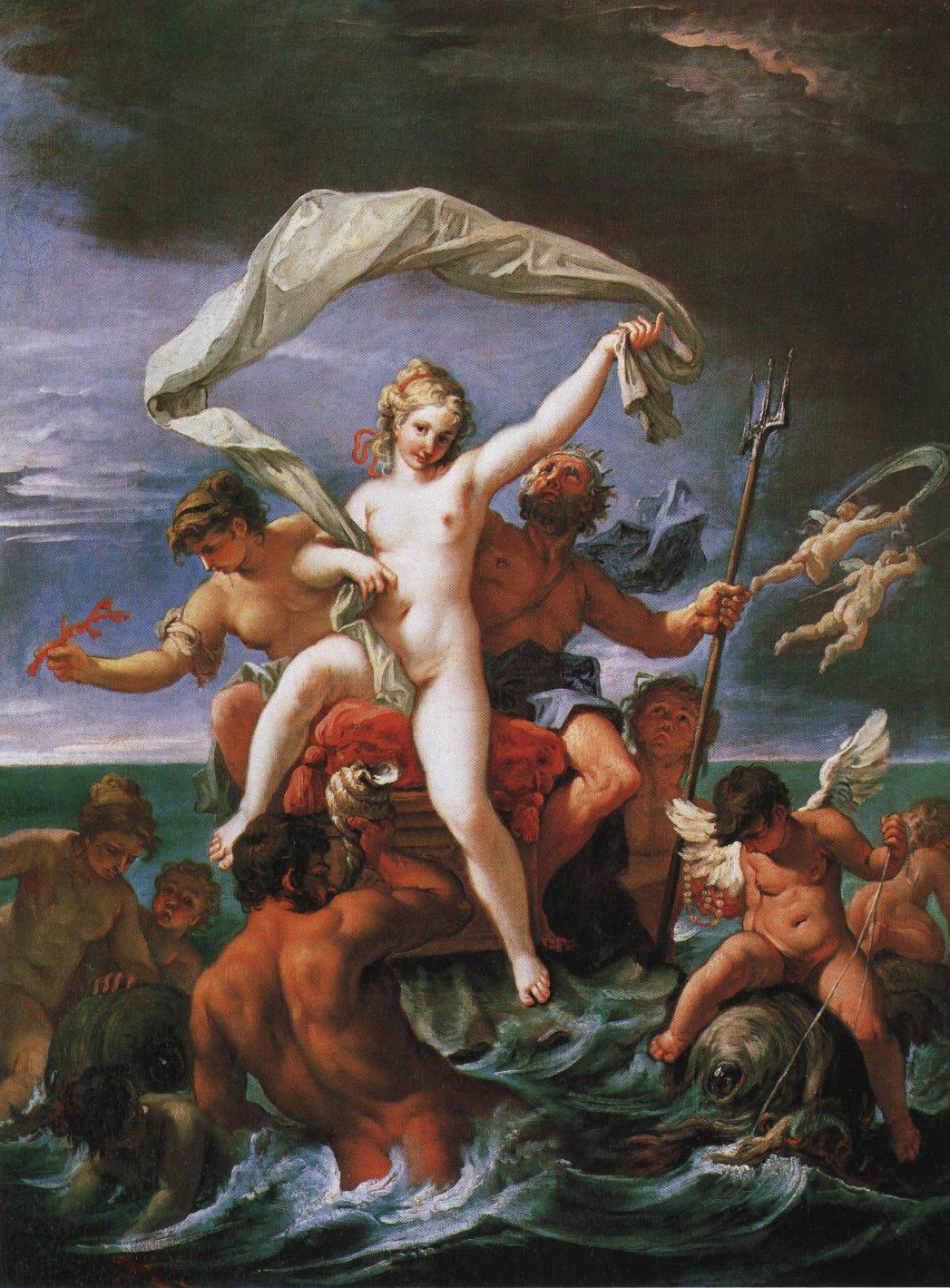 Neptune And Amphitrite   Sebastiano Ricci   Oil Painting