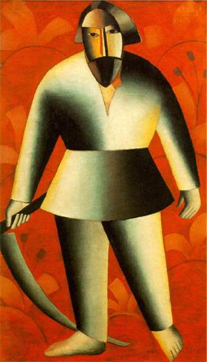 Reaper on Red Background 1912 | Kasimir Malevich | Oil Painting