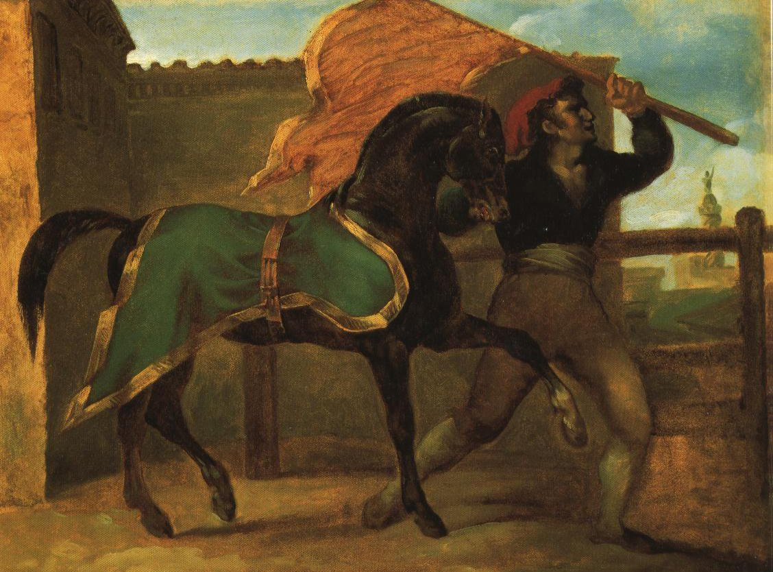 Horse Race | Theodore Jean Louis Gericault | Oil Painting
