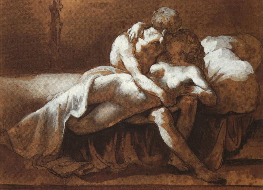 The Kiss | Theodore Jean Louis Gericault | Oil Painting