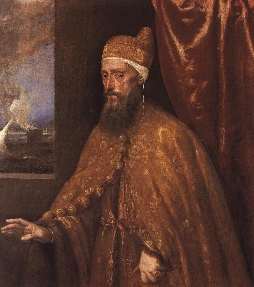 Portrait Of Doge Francesco Vernier | Titian | Oil Painting