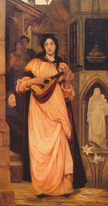 The Minstrel 1890   Kate Elizabeth Bunce   Oil Painting