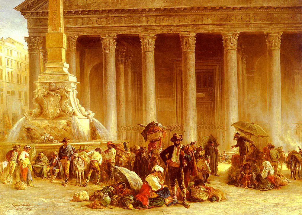 The Quack Doctor Of The Piazza Rotonda Rome | Keeley Halswelle | Oil Painting