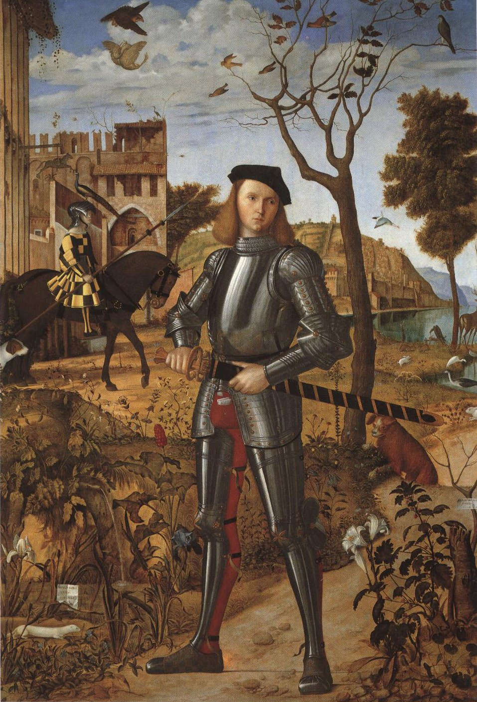 Young Knight In A Landscape | Vittore Carpaccio | Oil Painting