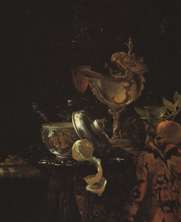 Still Life With A China Bowl Nautilus Cup Rummer Flute Glass And Other Objects | Willem Kalf | Oil Painting