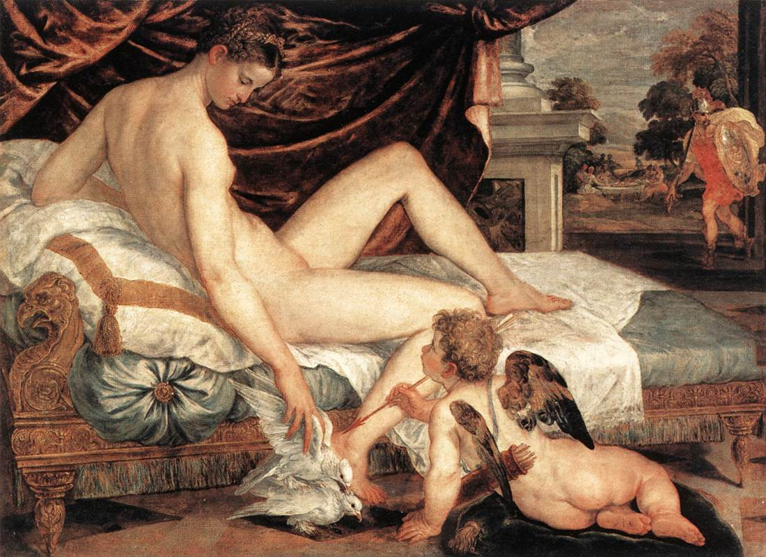 Venus and Cupid 1560 | Lambert Sustris | Oil Painting