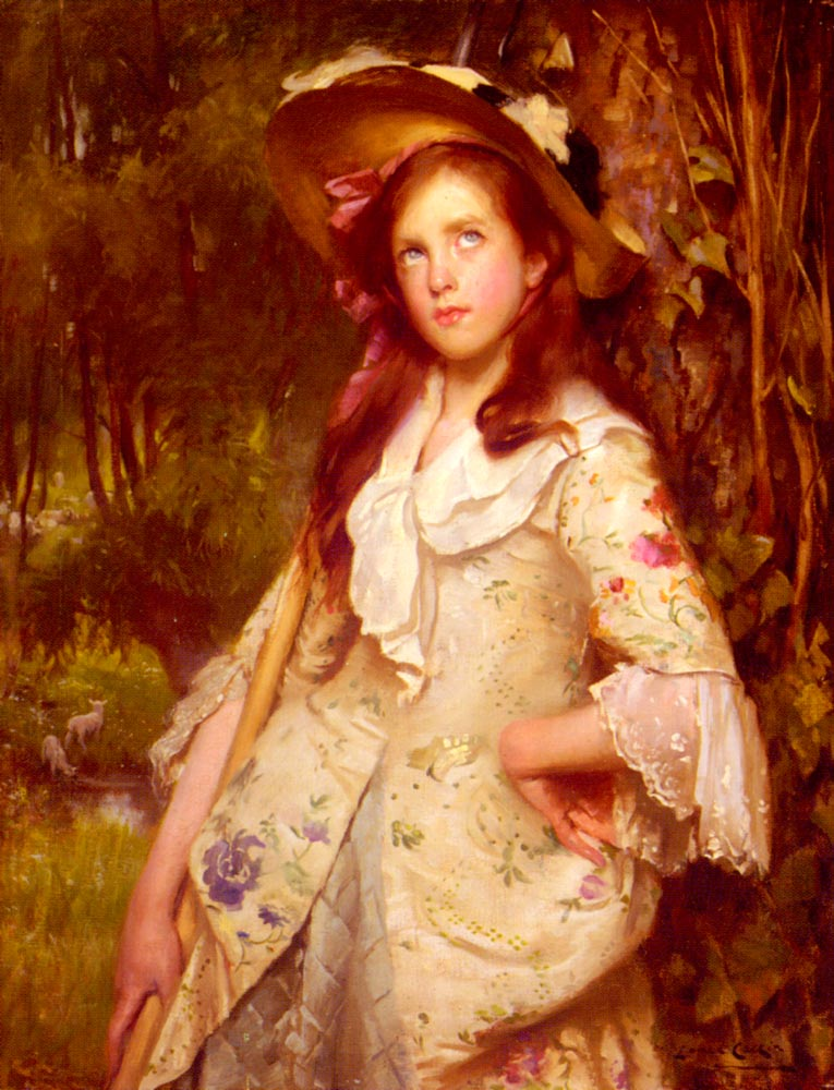 The Young Shepherdess | Lance Calkin | Oil Painting