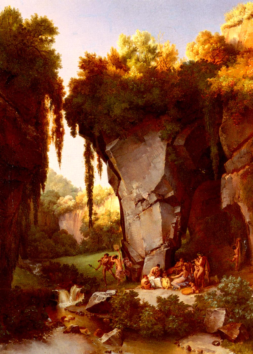 Craggy Landscape With Bacchanal | Lancelot Theodore Turpin | Oil Painting