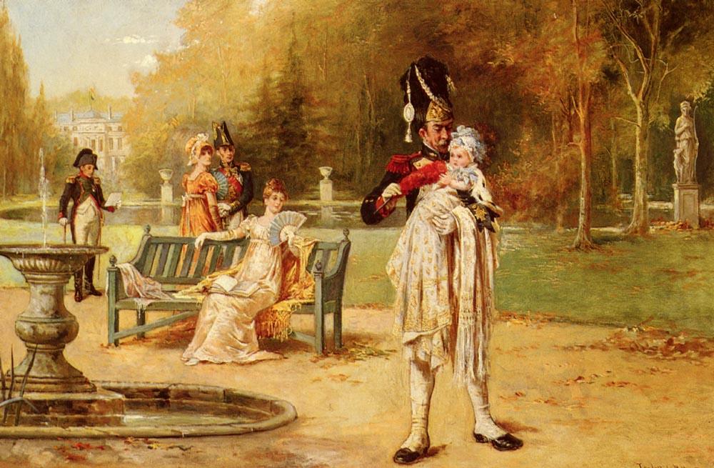 The King Of Rome And His Nurse | Laslett John Pott | Oil Painting