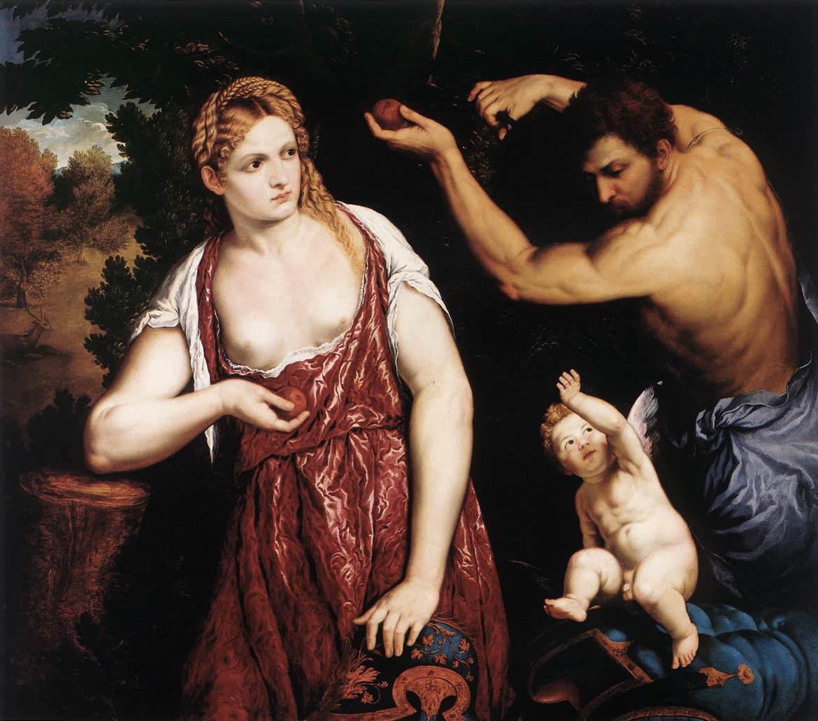Venus And Mars With Cupid 1559-60 | Orazio Borgianni | Oil Painting