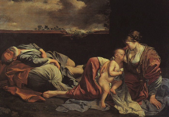 Rest On The Flight Into Egypt 1628 | Orazio Gentiles | Oil Painting