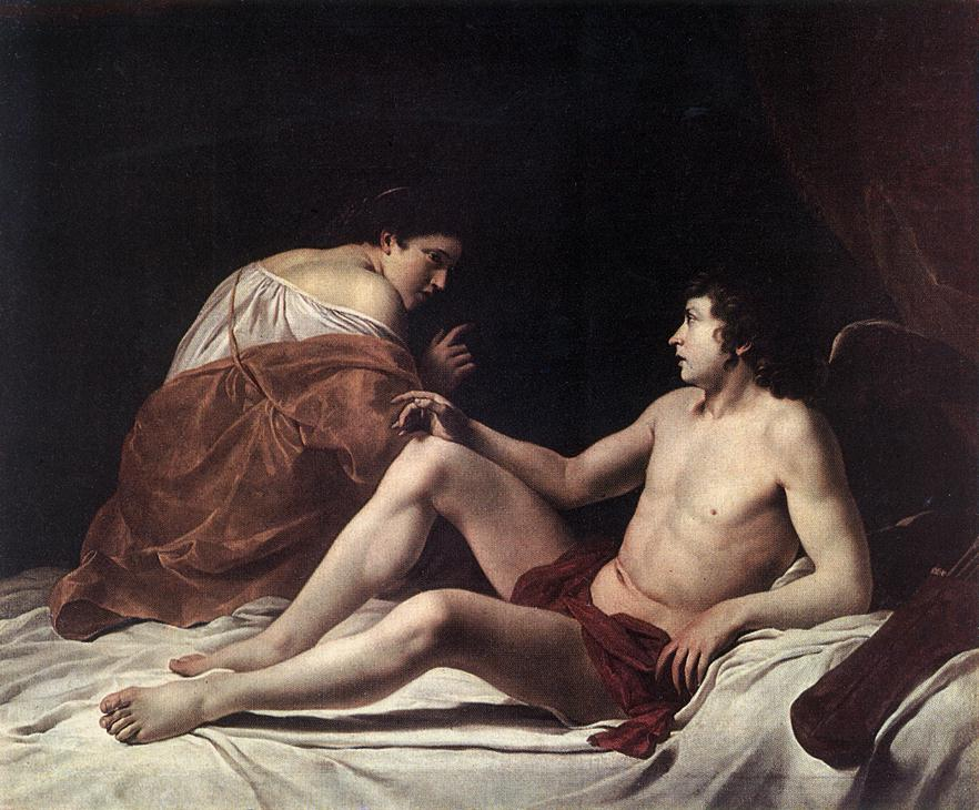 Cupid And Psyche 1628-30 | Orazio Gentiles | Oil Painting