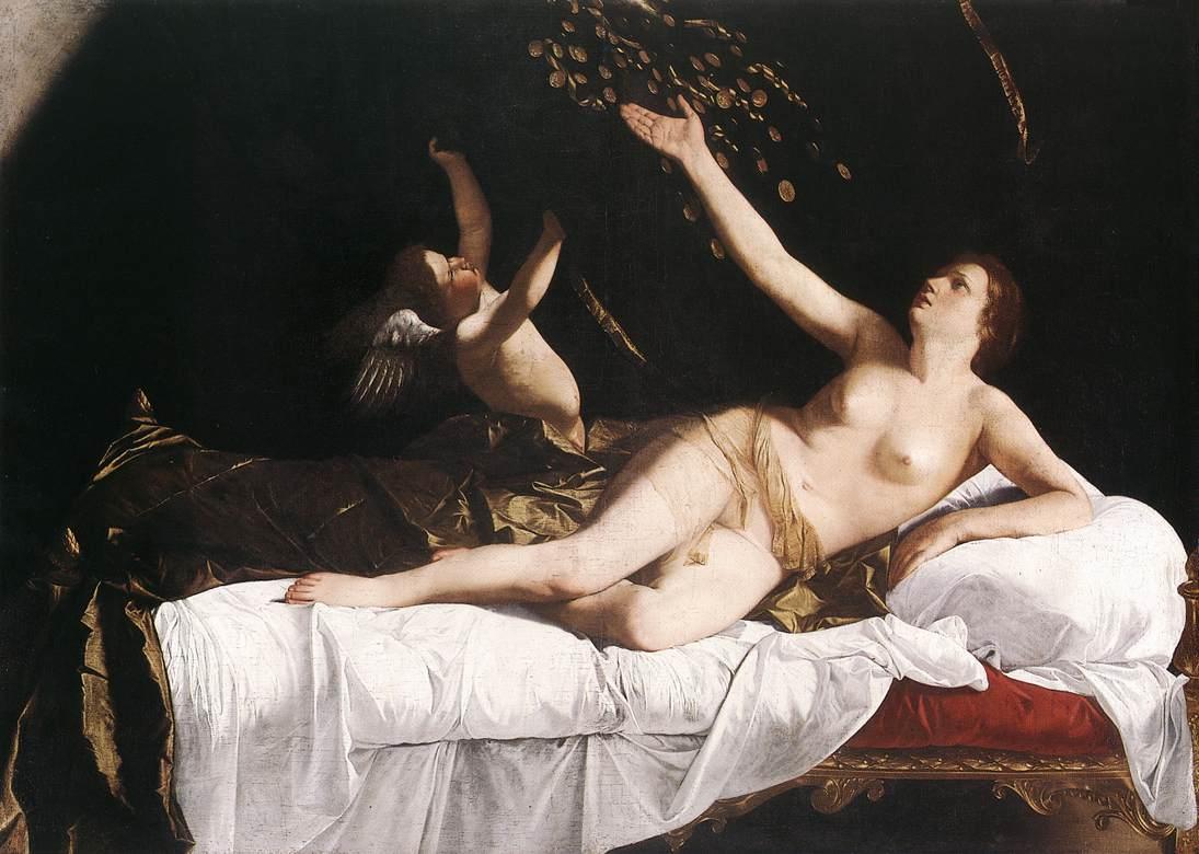 Danae C 1621 | Orazio Gentiles | Oil Painting