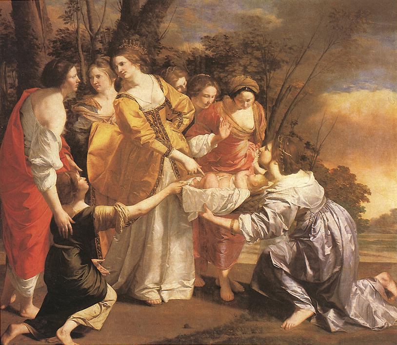 Finding Of Moses 1630-33 | Orazio Gentiles | Oil Painting