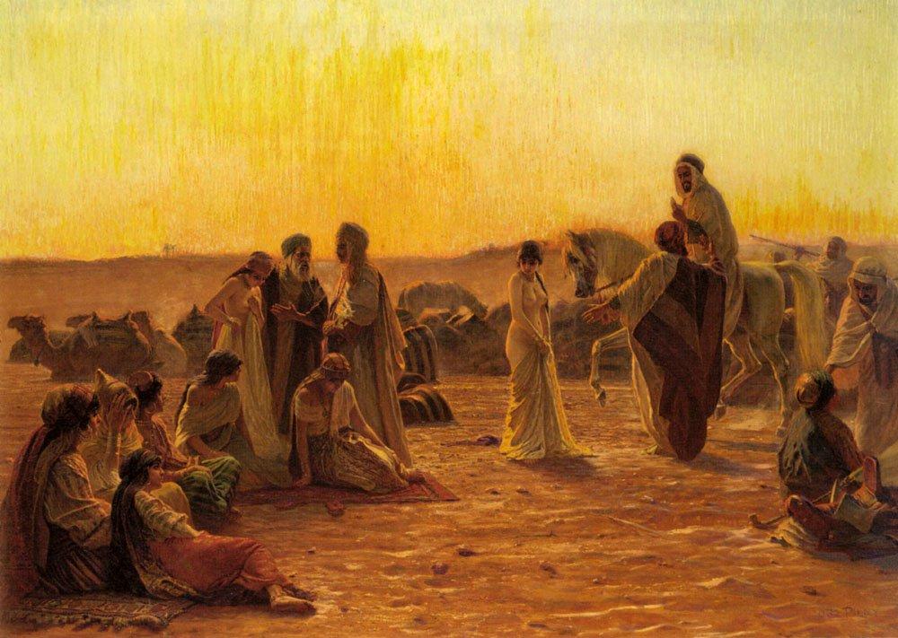 The Slave Market | Otto Pilny | Oil Painting