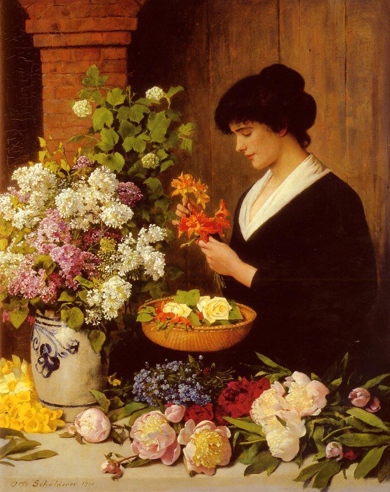 The Flower Arrangement | Otto Scholderer | Oil Painting