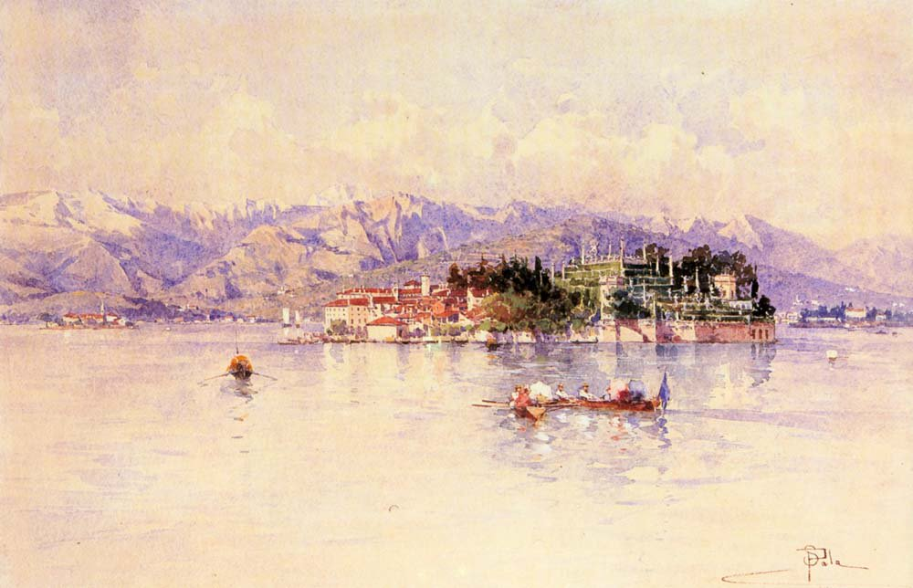 Boating On Lago Maggiore Isola Bella Beyond | Paolo Sala | Oil Painting