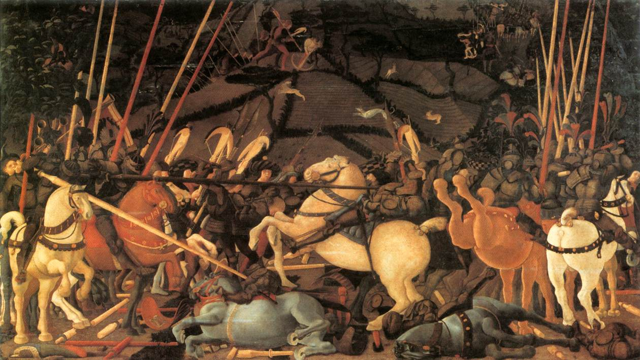 Bernardino Della Ciar A Thrown Off His Horse 1450s | Paolo Uccelo | Oil Painting