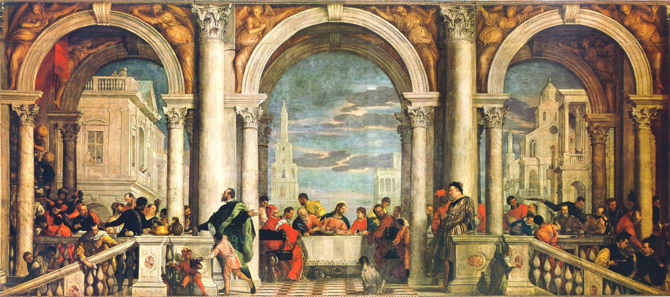 Feast In The House Of Levi 1573 | Paolo Veronese | Oil Painting