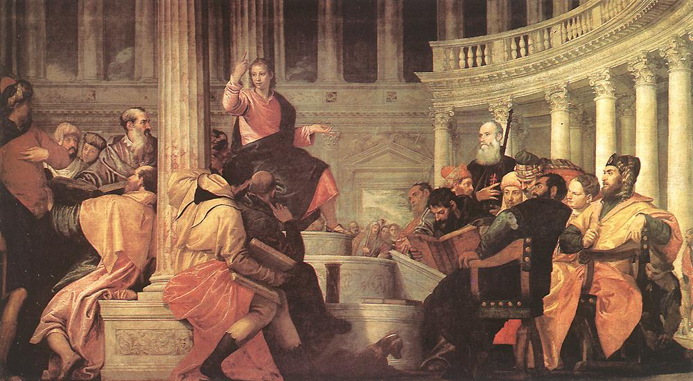 Jesus Among The Doctors In The Temple 1558 | Paolo Veronese | Oil Painting