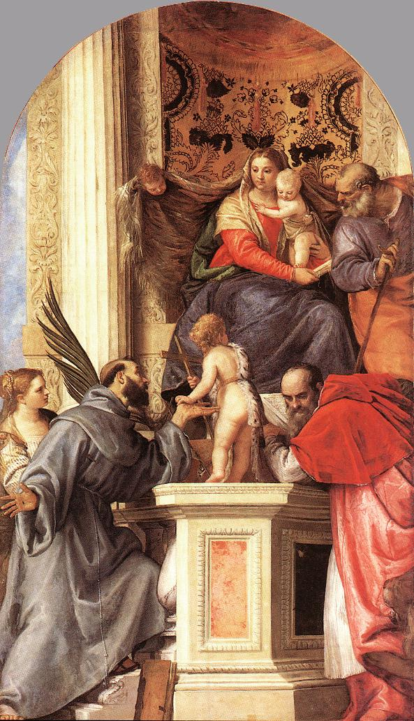 Madonna Enthroned With Saints 1562 | Paolo Veronese | Oil Painting