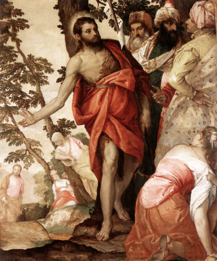 St John The Baptist Preaching 1562 | Paolo Veronese | Oil Painting