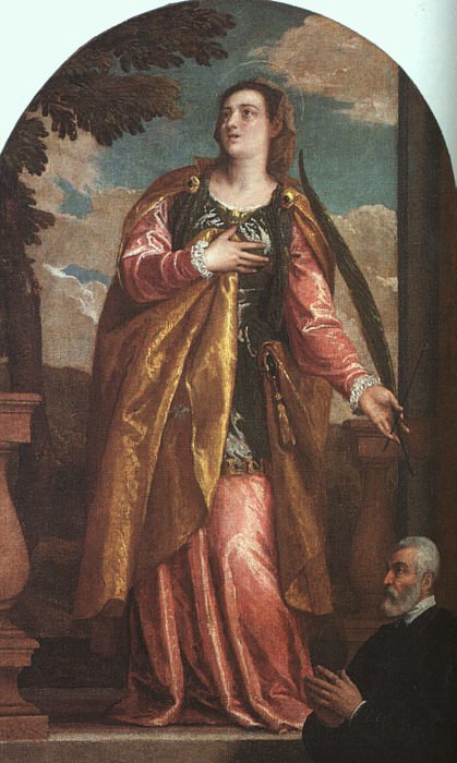 St Lucy And A Donor 1580 Xx | Paolo Veronese | Oil Painting