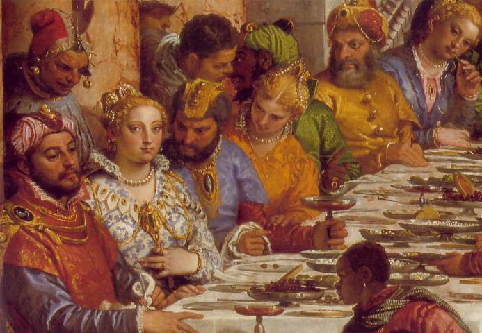 The Marriage At Cana Detail 1 1563 | Paolo Veronese | Oil Painting