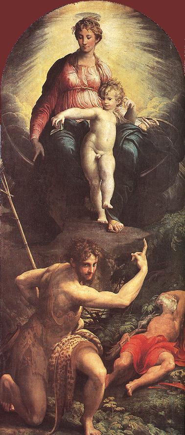 The Vision Of St Jerome 1527 | Parmigianino | Oil Painting