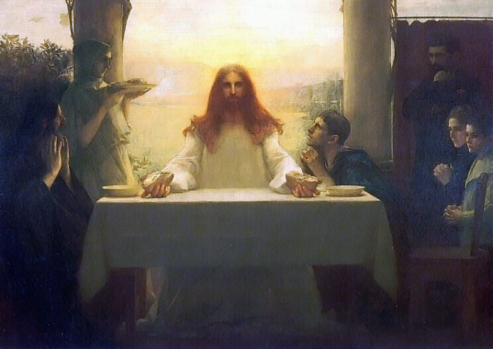 Christ And The Disciples At Emmaus 1896-97   Pascal Adolphe Jean Dagnan-bouveret   Oil Painting