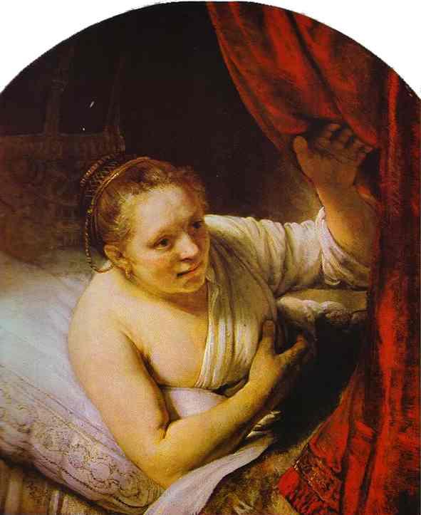 Hendrickje In Bed 1648 | Rembrandt | Oil Painting