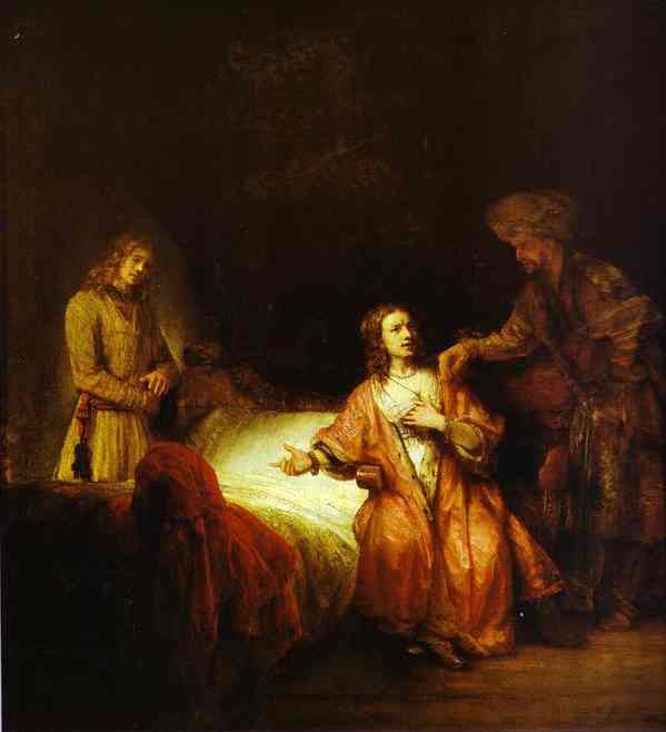 Joseph Accused By Potiphars Wife 1655 | Rembrandt | Oil Painting