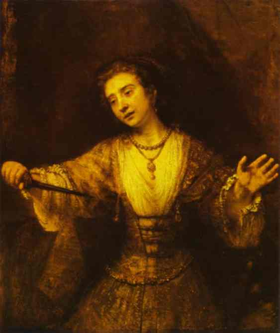 Lucretia 1664 | Rembrandt | Oil Painting