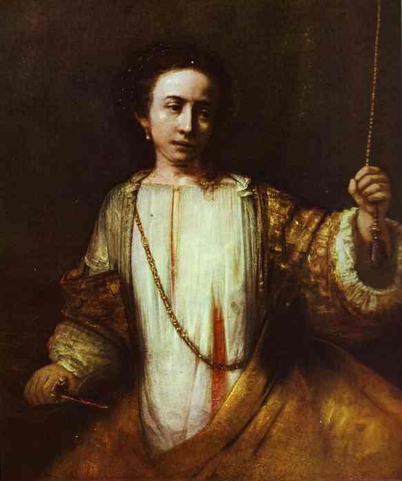 Lucretia 1666 | Rembrandt | Oil Painting