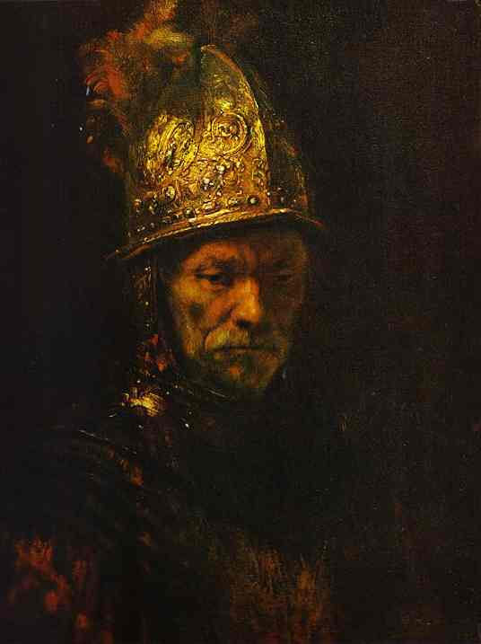 Man In A Gold Helmet 1650 | Rembrandt | Oil Painting